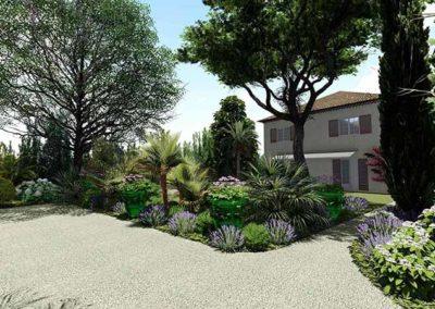 3D jardin