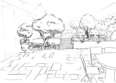 projet d'aménagement terrasse