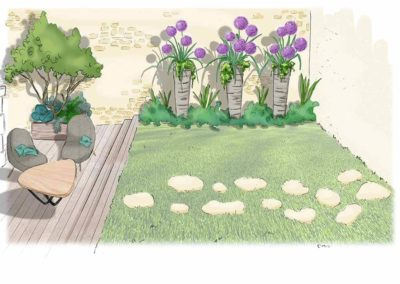 Croquis jardin